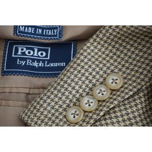Polo Ralph Lauren Corneliani Silk Blend Brown coat
